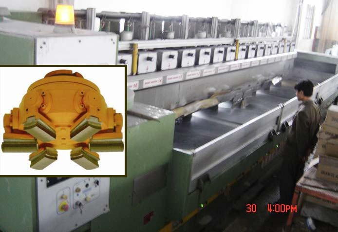 abrasive diamond fickert for polishing granite slabs