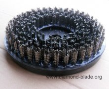 Stainless Steel Wire Round Abrasive Brush for Granite and Marble