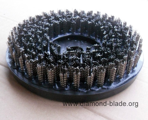 round steel wire abrasive brush