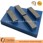 Diamond wedge block for terrazzo and concrete grinding machine