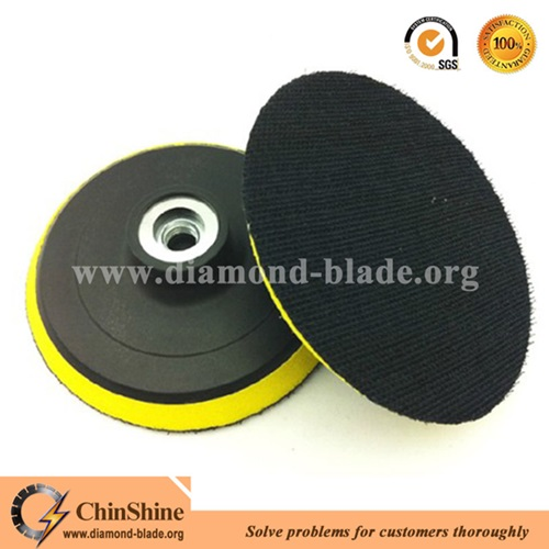 High quality plastic backing pads with foam support for angle grinder
