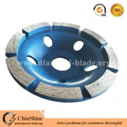 China manufacturer granite grinding tools single row diamond cup wheel