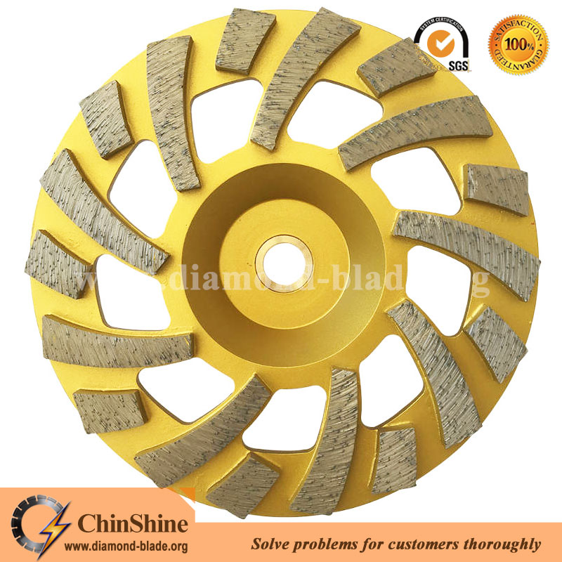 7 inch super turbo concrete floor diamond grinding cup wheel