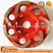 Quality V shape diamond grinding cup wheel for concrete floor manufacturer