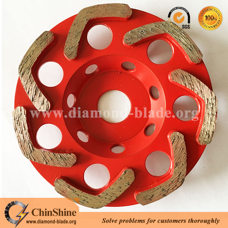 V shape diamond grinding cup wheel for concrete