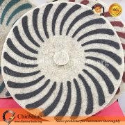 "China floor 17"" inch wool diamond sponge polishing pad in dry and wet polishing"