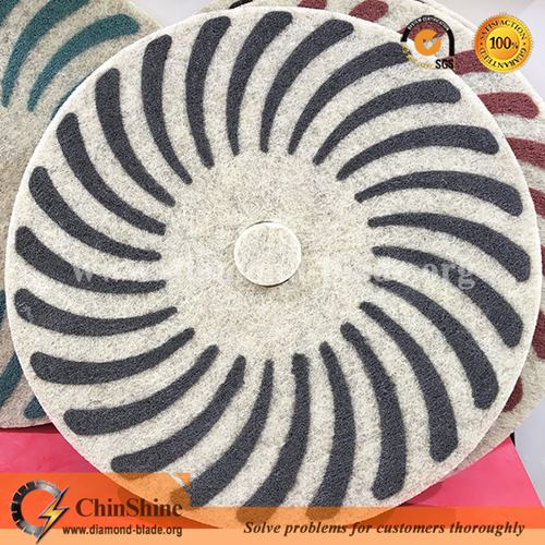 "China floor 17"" inch wool diamond sponge polishing pad in dry and wet polishing."