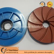 snail lock diamond polishing pads for granite and marble edge polishing