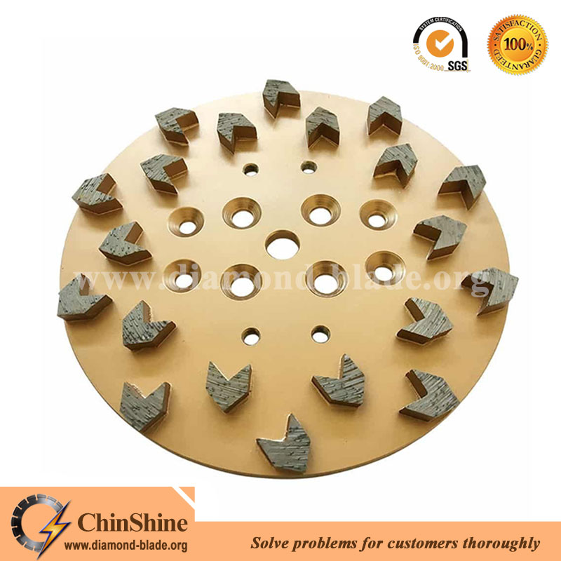 China high quality 10 inch diamond grinding plate