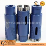 "35mm stone dry diamond core drill bit with protect teeth for stone drilling heat radiation M14 5/8""-11"