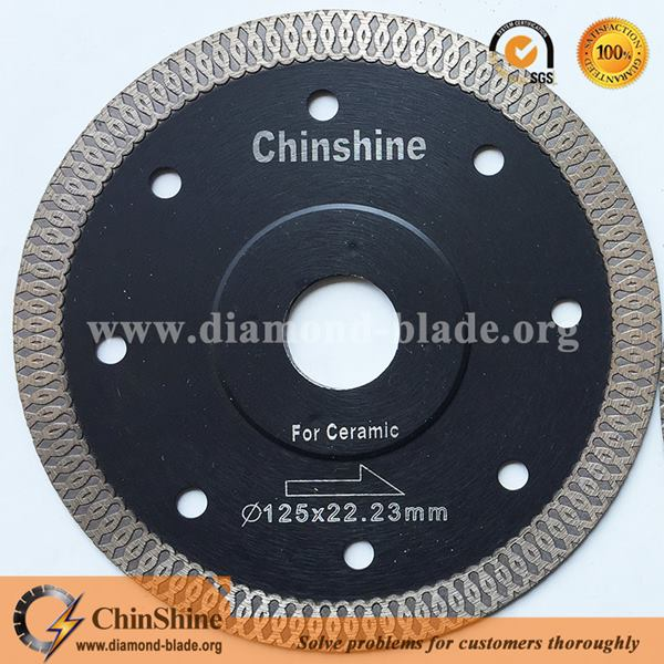 High Efficient Super Thin Turbo Diamond Saw Blade For Ceramic Cutting