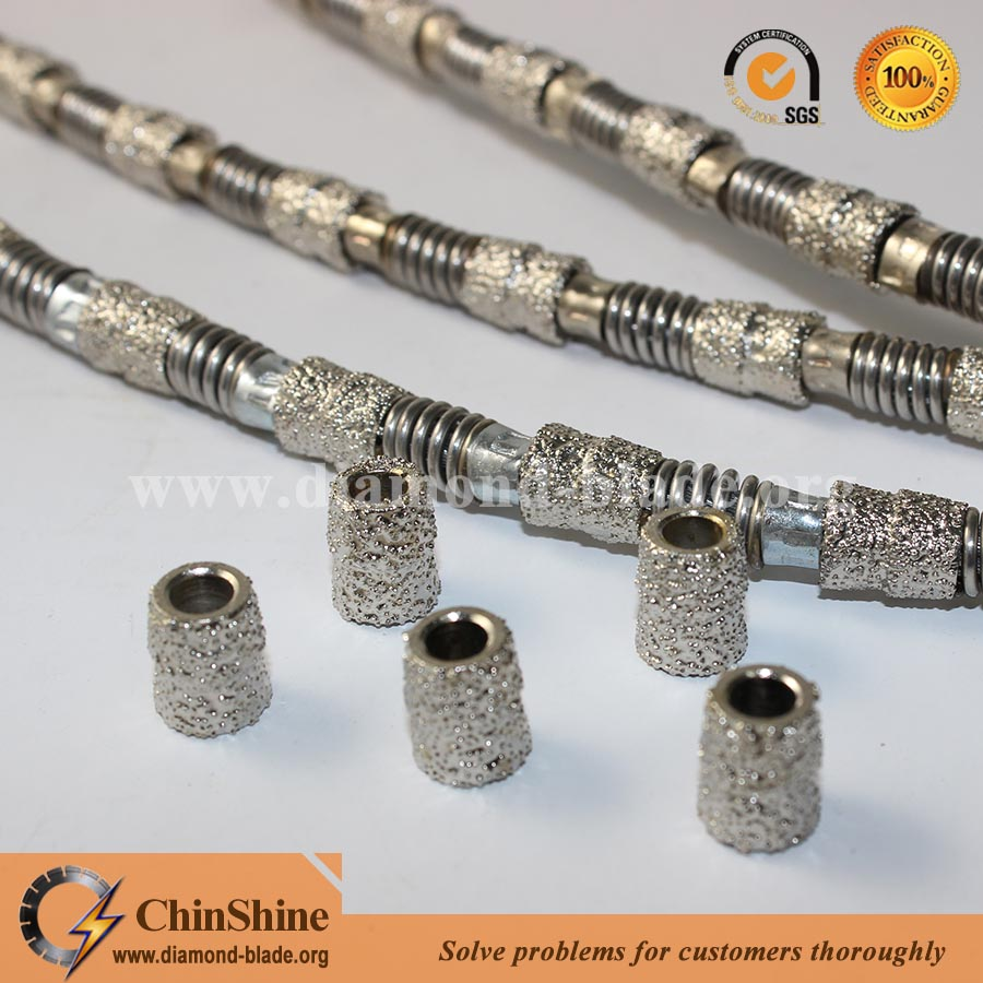 vacuum brazed diamond wire saw for marble,granite and concrete