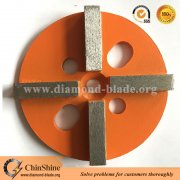 Metal bond 4 segment diamond grinding disc for concrete floor surface