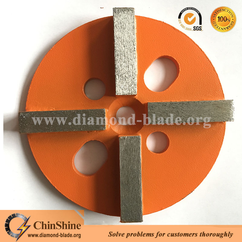 metal bond 4 segments diamond grinding disc for concrete