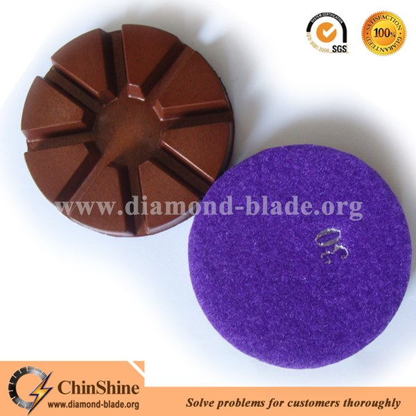 3 Inch Resin Polishing Pads With 8 Segments For Concrete Polishing