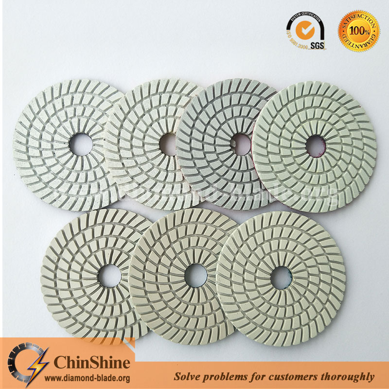 top quality 4 inch 7 step diamond wet polishing pads for granite and marble