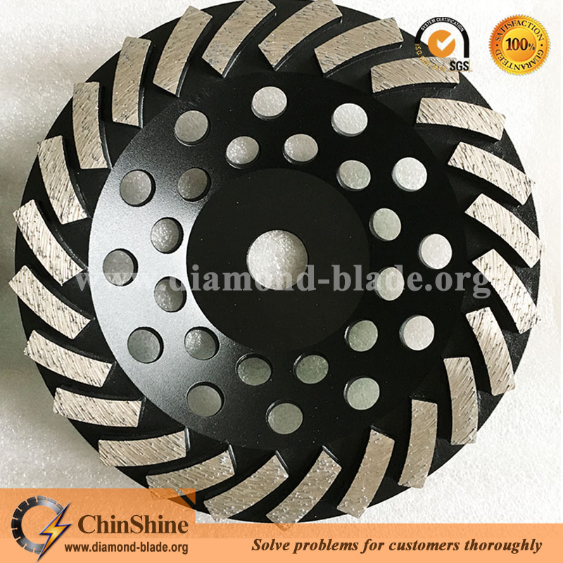 "7/"" PRO.DIAMOND TURBO CUP WHEEL CONCRETE STONE GRINDING"