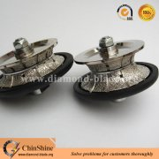 Full bullnose diamond stone edge hand profile wheel with female thread