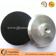 "Aluminum backer pads for polishing pads with M14 and 5/8""-11 thread"