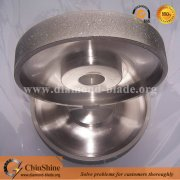 Lapidary electroplated diamond coated flat cabbing grinding wheel