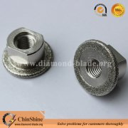 Electroplated diamond stone cutting and grinding mini blade with M14 thread