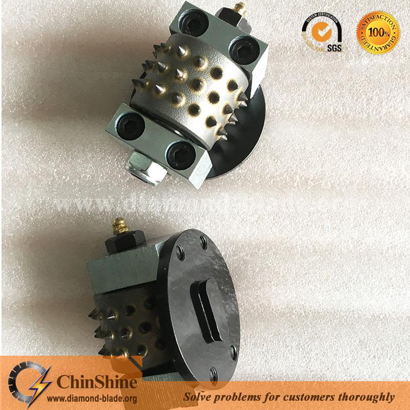 Husqvarna redi-lock bush hammer plate roller for concrete