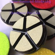 3 Inch Ceramic Bond Hybird Transitional Polishing Pads for Concrete